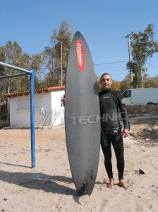 slalom board EPS foam - PVC carbon